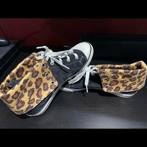 Coach Bonney High Top Chettah Shoes size 10
